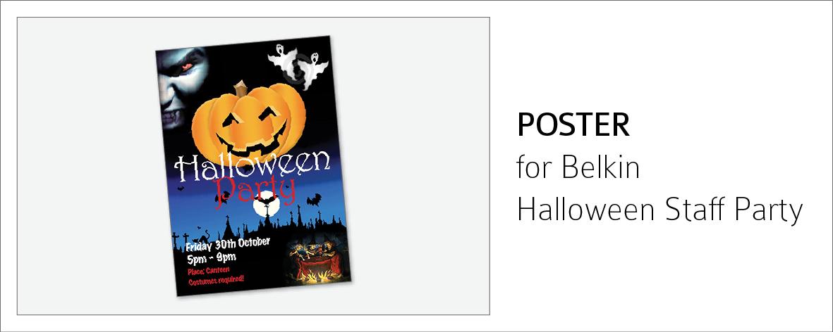Belkin halloween Poster